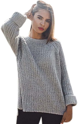 Sweaters Jacket Winter Tops Sleeve Light Red Long Gray Oversized Fall Cotton Women's Jumper Coat Women Sweater Sweater Cable Knit Cozy Pullover Ladies BPOwPdqU