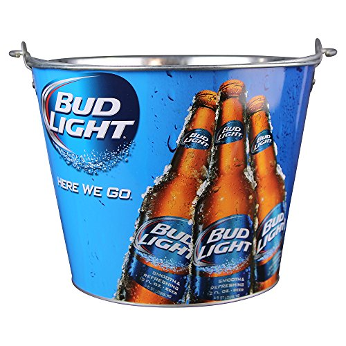 Beer Brand Full Color Aluminum Beer Bucket (3 Bud Lights)