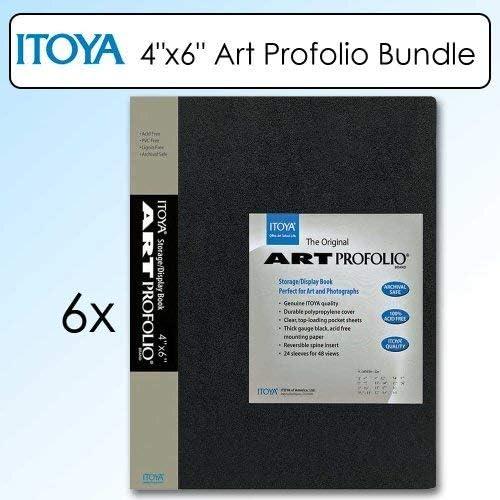 Itoya IA-12-4 Art Profolio 4x6in Photo 24 Sheet for 48 Pictures Black Bundle
