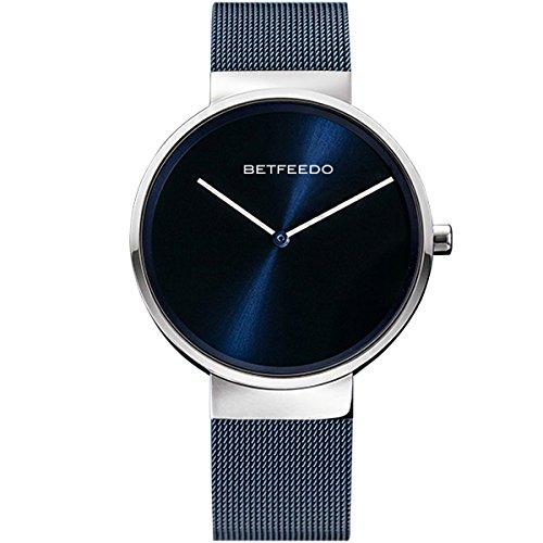 Watches,Mens Watches,Women Watches, BETFEEDO Waterproof Analog Quartz Dress Wrist Watch with Mesh Milanese Bracelet