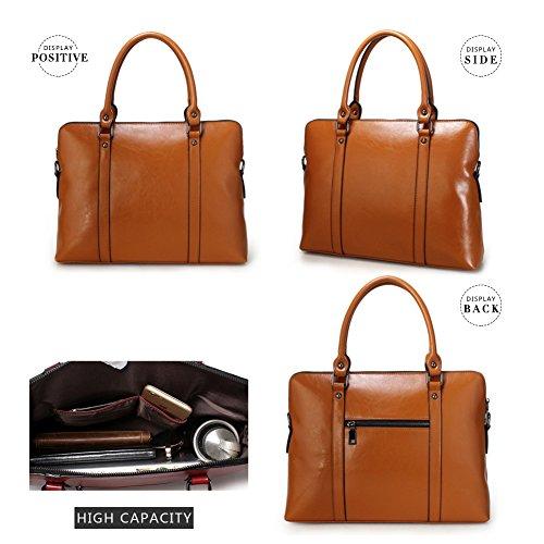 Brown Cow Leather averil Genuine Blue Vintage G Tote Women Bag Large Handbag For x7HUwpE
