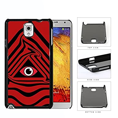 Eye Of Providence Illuminati Symbol Red Hard Plastic Snap On Cell