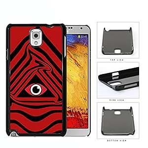 Eye Of Providence Illuminati Symbol Red Hard Plastic Snap On Cell Phone Case Samsung Galaxy Note 3 III N9000 N9002 N9005