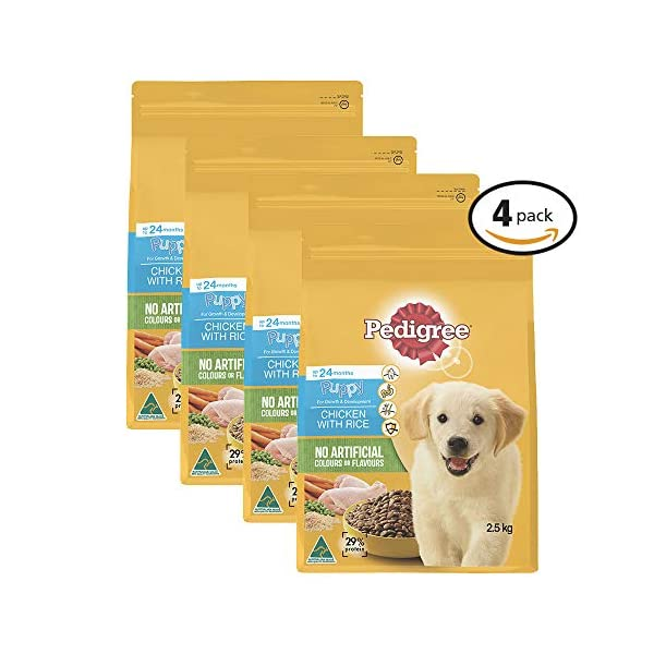 PEDIGREE Puppy Chicken Dry Dog Food 2.5kg Bag 4 Pack, Puppy, Small/Medium/Large Click on image for further info.