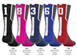 Graphite/Red with White #0 Athletic Sports Socks (1 Sock)