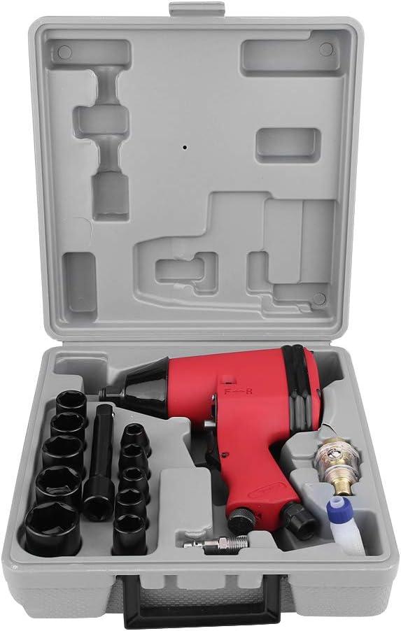 17 piezas de 1/2 pulgadas de impacto atornillador de aire comprimido de impacto atornillador de aire comprimido pistola de impacto UE adaptador