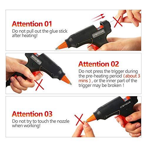 CRENOVA Hot Glue Gun, Glue Gun Kit with 60pcs Glue Sticks, High Temperature Melting Mini Glue Gun for DIY Small Projects, Arts and Crafts, Home Quick Repairs,Artistic Creation(20 Watts) by CRENOVA (Image #6)