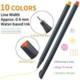 MyLifeUNIT Fineliner Color Pen Set, 0.4mm Colored