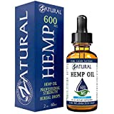 600mg Zatural Hemp Oil Drops: Hemp Seed Oil for Pain Relief, Anxiety, Stress, Relaxation, Better Sleep and Mood - Natural, Anti Inflammatory and Immune Support. Rich in Omega 3 & 6 (600mg Peppermint)