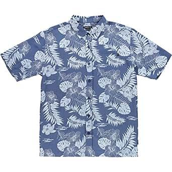 O'Neill Mens Banyan Button Up Short-Sleeve Shirt Small Dark Blue