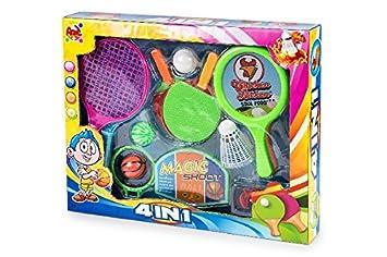 TOINSA Conjunto de deportes baloncesto tenis badminton pin ...