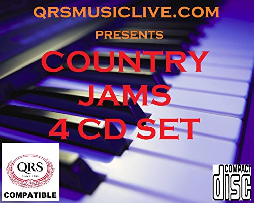 COUNTRY JAMS ( 4 DISC SET) - QRS Compatible Player Piano (Country Sets Piano)