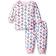 Hudson Baby Thermal Longsleeve Top and Pants, Budding Branches and Birds, 0-3 Months