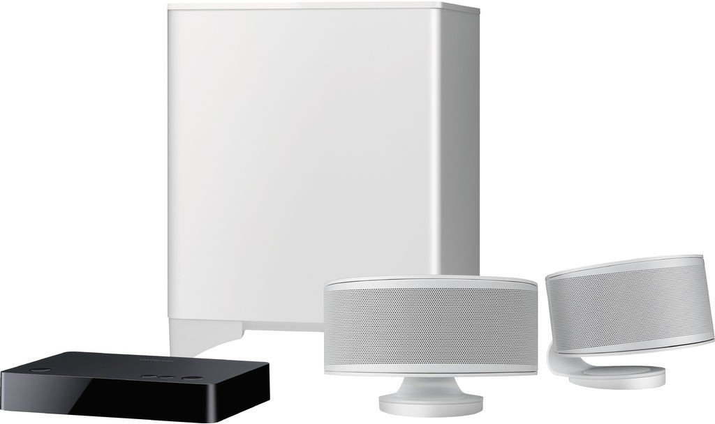 B Onkyo LS3200 2.1-Kanal TV-Lautsprechersystem schwarz DTS Studio Sound, Dolby Digital, Bluetooth-Audiostreaming, drahtloser Subwoofer