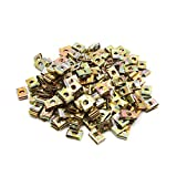 uxcell 200Pcs Bronze Tone Metal Motorcycle Fairing Bolts U-Type Speed Fastener Clips