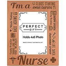 Nurse Appreciation Gift I am a Nurse Poem Natural Wood Engraved 4x6 Portrait Picture Frame Wood