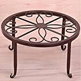 L;IAN Metal Flowerpot Holder, Planters Round Wrought Iron Flower Pot Rack 9 Inch Balcony Plant Stand (Color : Red Bronze)