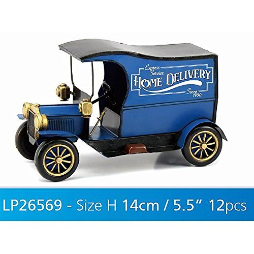 Lesser & Pavey Metal Vintage Delivery Van Collectible, Blue Lesser & Pavey Ltd uk home LESGY LP26569