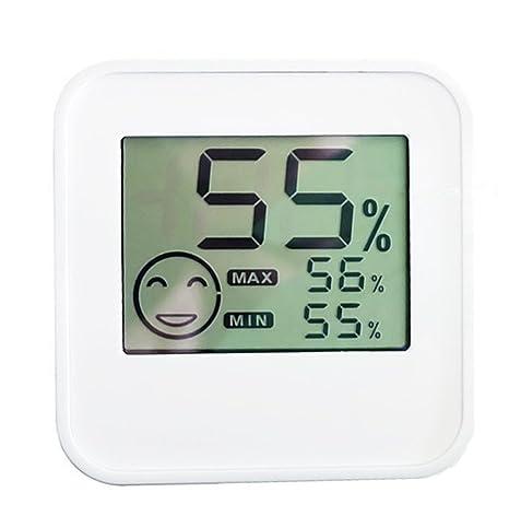CCOWAY Termómetro digital higrómetro con sensor de temperatura y humedad y gran pantalla LCD para el
