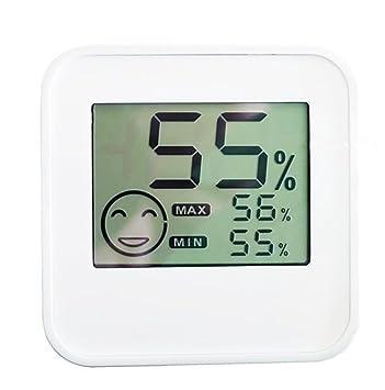 CCOWAY Termómetro digital higrómetro con sensor de temperatura y humedad y gran pantalla LCD para el hogar / pared / escritorio / interior / al aire libre: ...