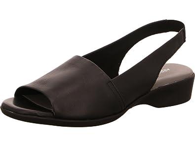 0756daf0cb3e49 Aerosoles Women's Cush Flow Open Toe Sandals Black Size: 3 (EU ...