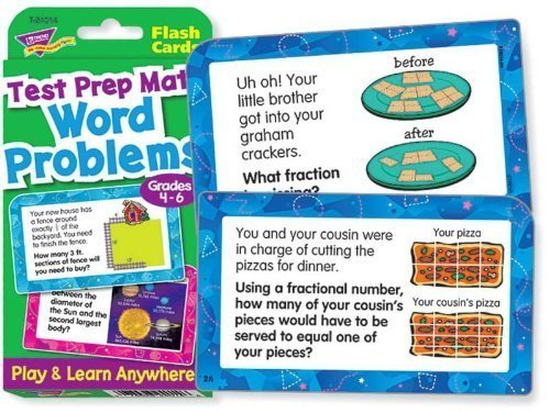 Trend Enterprises T24014 Test Prep Math Word Problems, Grade