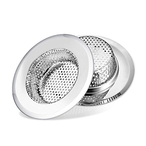 - Moscany 2PCS Kitchen Sink Strainers, Stainless Steel - 4.33