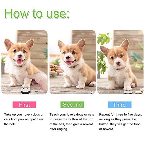 AK KYC 2 Timbres de Perro Campanas de Entrenamiento para Mascotas para Perros Gatos Potty Training Feeding Training Communication Training para el ...