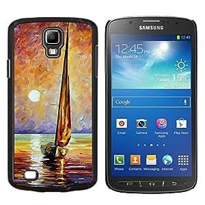 LECELL--Funda protectora / Cubierta / Piel For Samsung Galaxy S4 Active i9295 -- Mar Barco Verano capitán --