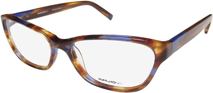 Amazon Com Marchon Nyc Downtown Monroe Womens Ladies Cat Eye Full Rim Flexible Hinges Eyeglasses Eyeglass Frame 53 16 135 Tortoise Purple Clothing