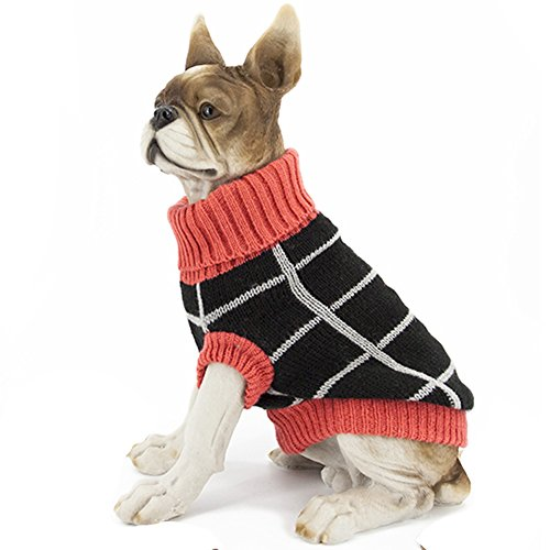 HAPEE Pet Clothes the Black Plaid Cat Dog Sweater , Dog Accessories, Dog Apparel?Pet Sweatshirt