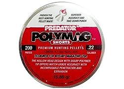 Predator Polymag Shorts, .22 Cal Pellets, 15.75 Grains, Pointed, 200ct