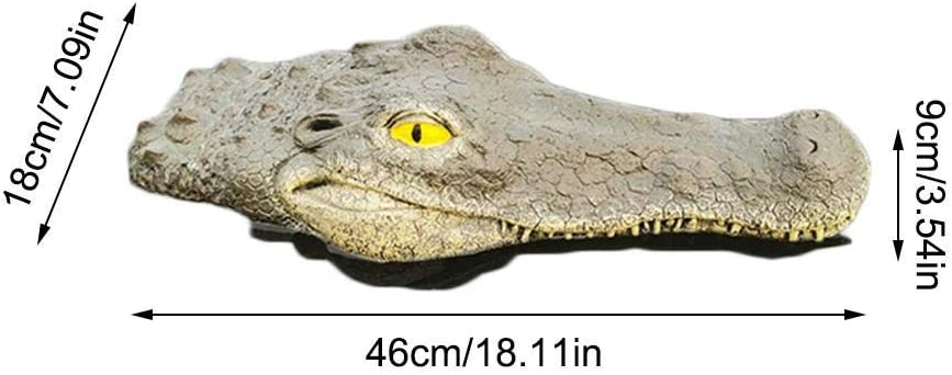 Pond Floating Decoration Simulated Crocodile Head Shark Fin Realistic Safe Simulation Doll Ornament for Garden Swimming Pool