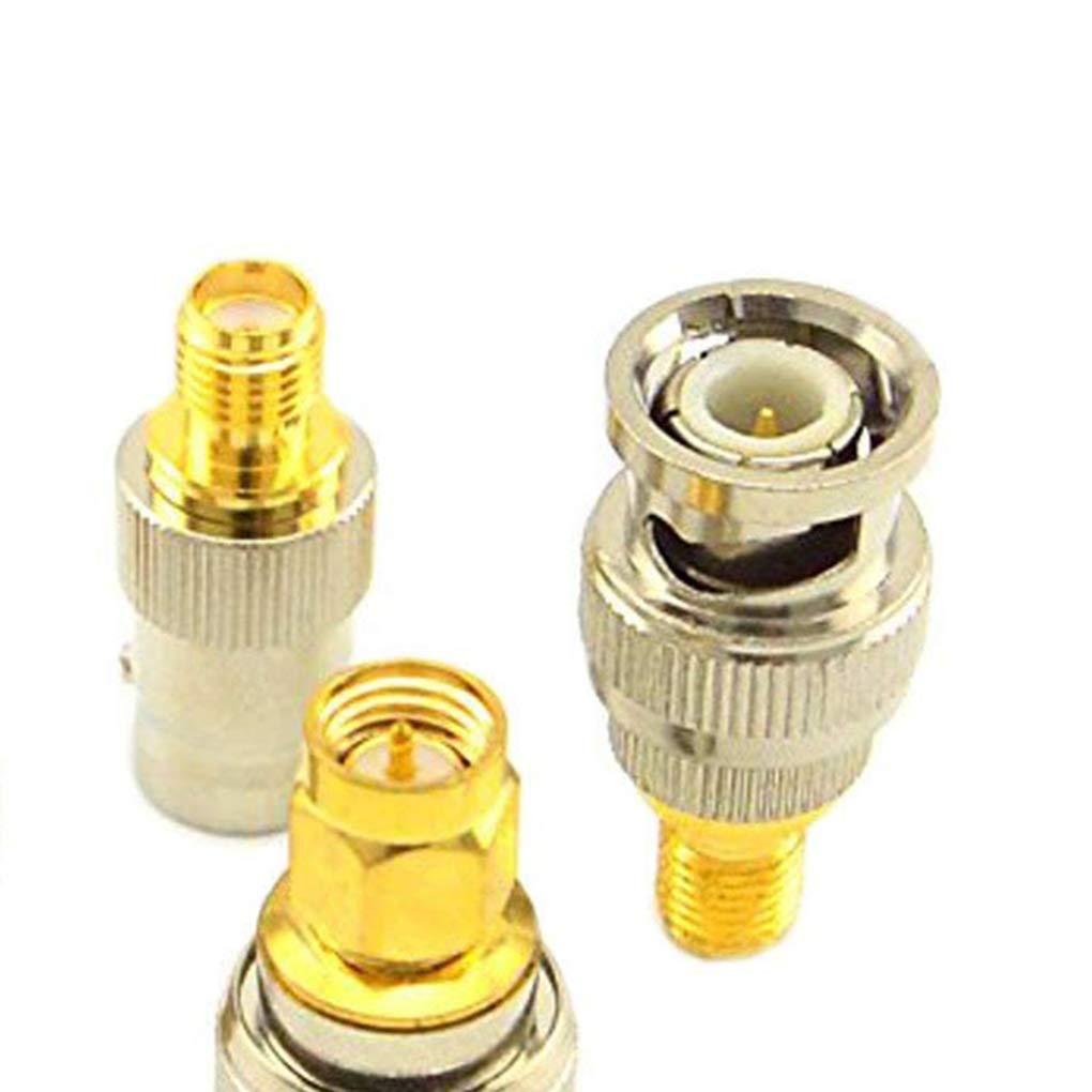 LafyHo 4pcs 8pcs SMA a BNC RF Kits de Adaptador coaxial Macho coaxiales Hembra Conector de Repuesto Combinaci/ón