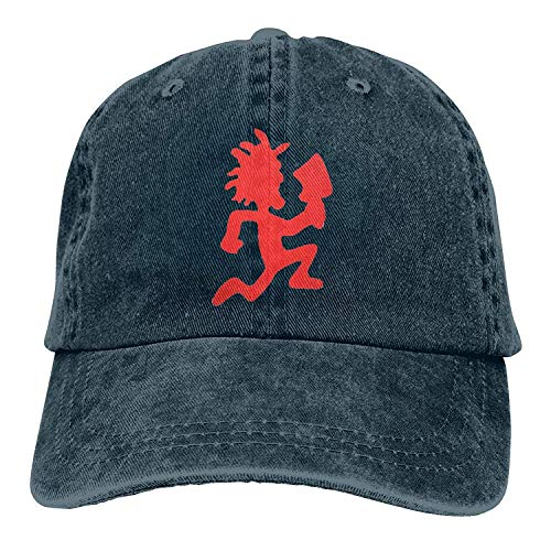 94b2bed22f8 Zhi Fan Hatchetman ICP Logo Buckle Strap Denim Snapback Hat Sports Operator  Cap Navy