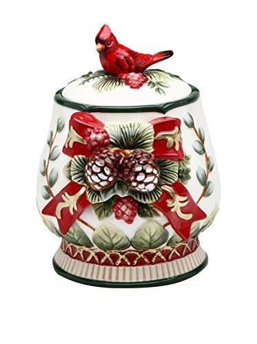Cosmos Gifts 10556 Evergreen Holiday Jar, 7-1/2-Inch