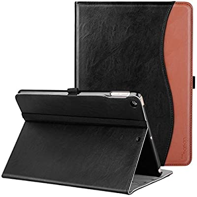 New IPad 9.7 Inch 2017 Case, Ztotop Premium Leather Business Slim Folding Stand Folio Cover for New Apple Tablet with Auto Wake / Sleep and Document Card Slots, Multiple Viewing Angles