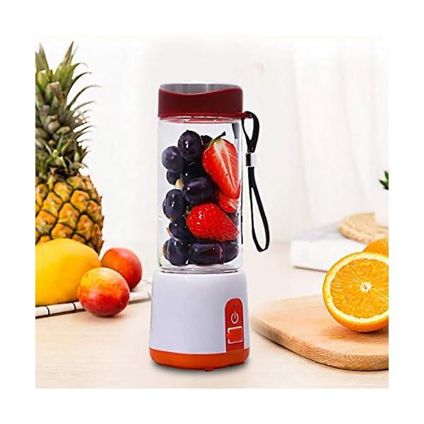 Frullatore elettrico portatile Frullatore USB Mini miscelatori di frutta Spremiagrumi Estrattori di frutta Frullato… 4 spesavip