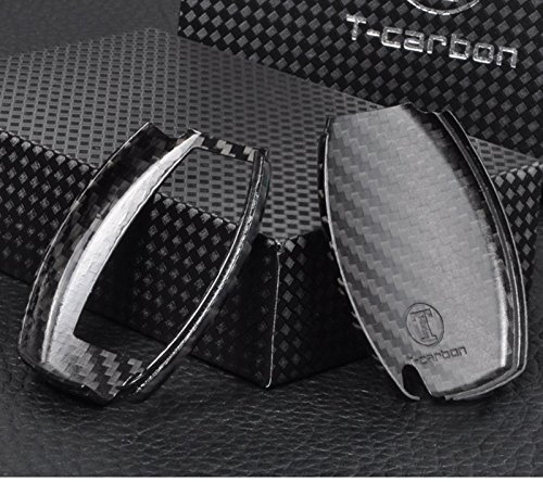 T-Carbon Luxury Geniune Carbon Fiber Remote Key Chain 3k Highlight Polish Keyless Protection Case Cover for Mercedes-Benz S Class, SLS AMG ,SLR Class by T Carbon (Image #3)
