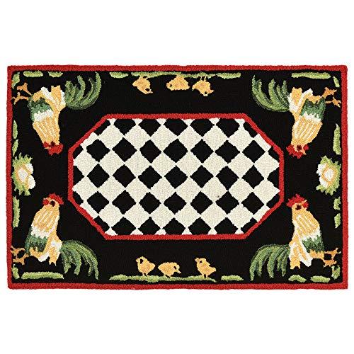 - Liora Manne FTP23240848 2408/48 Rooster Rugs, Indoor/Outdoor, 24
