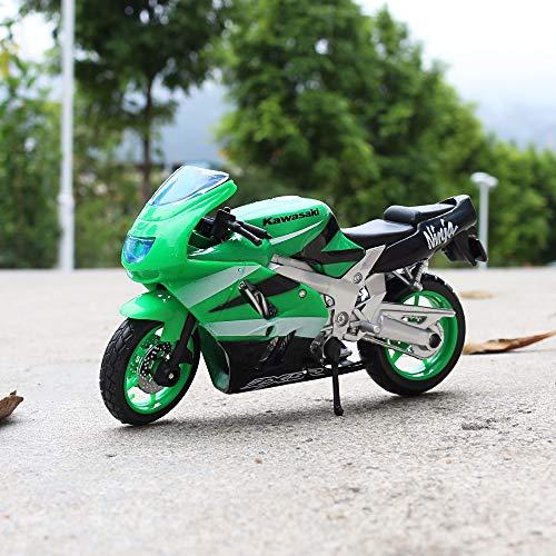 Greensun 1:18 Scale Kawasaki Ninja ZX-9R Motorbike Race Cars Mini Motorcycle Vehicle Models Office Toys Gifts for Kids
