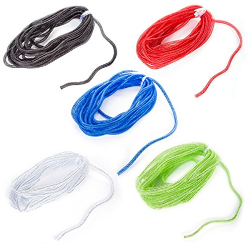 (Expressions Mesh Tubing in 5 Assorted Colors You Choose - 8mm x 10 yards - 2953-256 (Clear with Silver Tinsel))