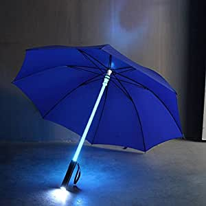 Blue BLADE RUNNER -6 color LED shaft Umbrella + light