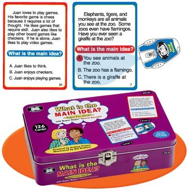 Super Duper Publications What is the Main Idea? Fun Deck with Secret Decoder Educational Learning Resource for Children by Super Duper Publications