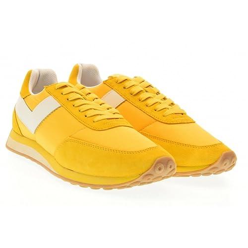 Pony - Zapatillas de Lona para hombre amarillo amarillo amarillo Size: 40: Amazon.es: Zapatos y complementos