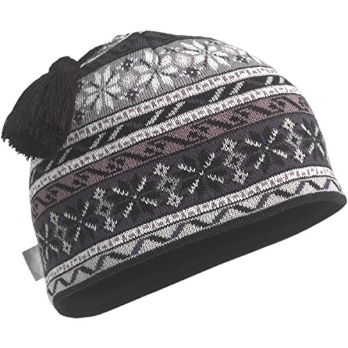 Turtle Fur Tassel (Turtle Fur Flakes N Stuff Midweight Merino Wool Tassel Beanie, Black, One Size)