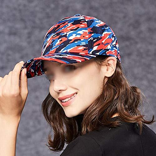 Algodón Visor Cap Gorra Mujer De color Regalo Ging Sombrero Casual Metro Hat hat Azul Sol Dama Red El Elegante Tamaño Para Ajustable La qwn50gEv