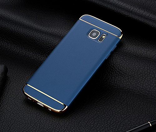 Price comparison product image FeiteElectroplate Hard Shockproof Case Cover for Samsung Galaxy S7 Edge (Blue)