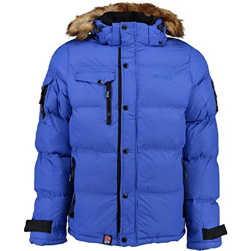 hombre Anorak XXXL Azul para chaqueta Behar forro tallas Norway invierno chaqueta S con cálida Geographical de 4r4wS5Uaq