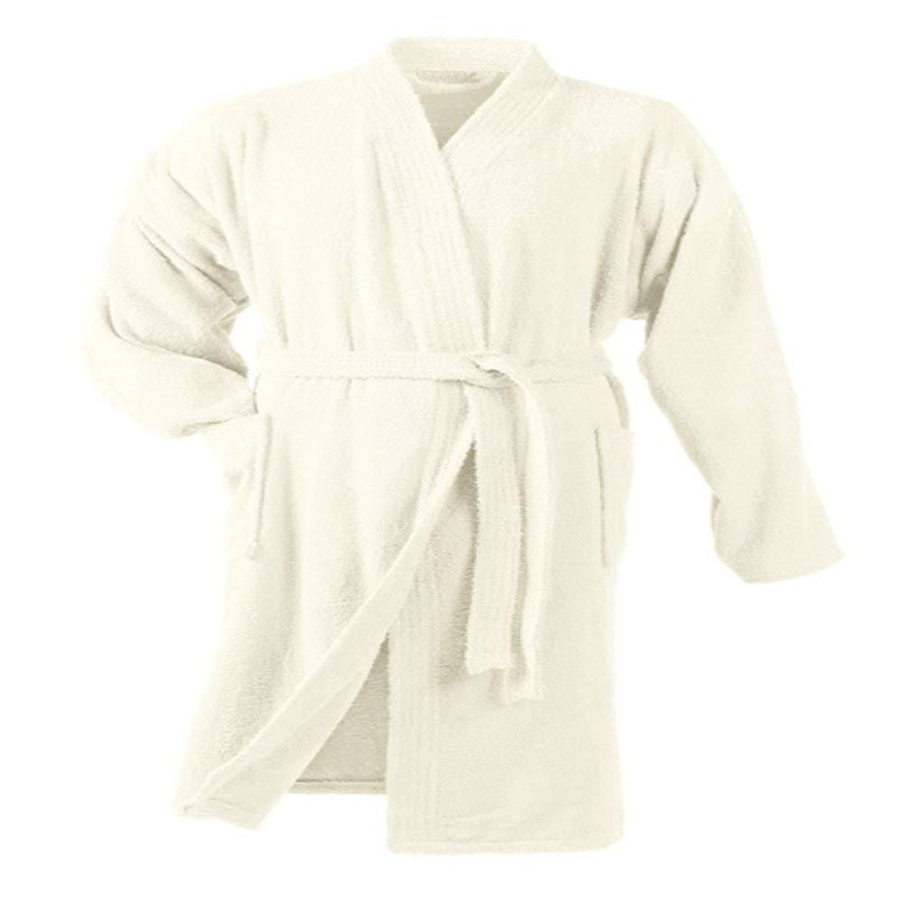 Top Shop Douceur de intérieur Albornoz Cuello en Kimono de 100% Algodón, Talla única, Color Beige